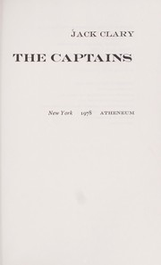 Cover of: The captains | Jack T. Clary
