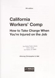 Cover of: California workers' comp | Christopher A. Ball