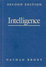 Cover of: Intelligence | Nathan Brody