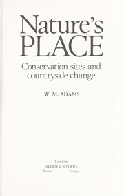 Cover of: Nature's place