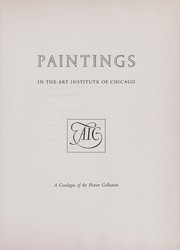 Cover of: Paintings in the Art Institute of Chicago | Art Institute of Chicago.