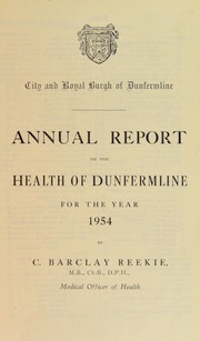 Cover of: [Report 1954] | Dunfermline (Scotland). Council