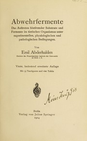 Cover of: Abwehrfermente