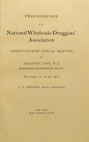 Cover of: Proceedings of the National Wholesale Druggists