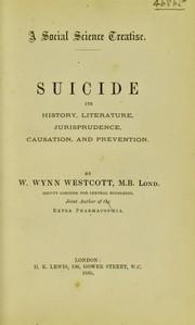 Cover of: Suicide