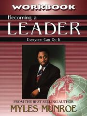 Cover of: Becoming a Leader Workbook | Myles Munroe