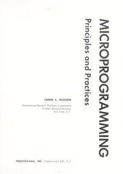Cover of: Microprogramming: principles and practices | Samir S. Husson