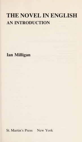 The novel in English by Milligan, Ian.