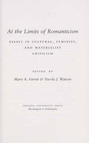 Locavores Synthesis Essay At The Limits Of Romanticism  Essays In Cultural Feminist And  Materialist Criticism By Business Essays Samples also Health Essay At The Limits Of Romanticism  Essays In Cultural Feminist And  Example Of An English Essay