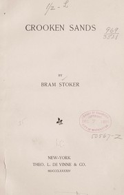 Cover of: Crooken sands | Bram Stoker