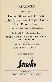 Cover of: Catalogue of rare United States and foreign gold, silver, and copper coins ... | Stack