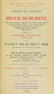 Catalogue of a collection of coins of all ages and countries ...