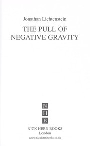 Cover of: The pull of negative gravity | Jonathan Lichtenstein