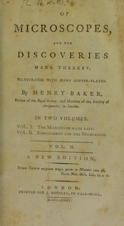 Cover of: Of microscopes, and the discoveries made thereby