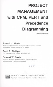 Cover of: Project management with CPM, PERT, and precedence diagramming by Joseph J. Moder