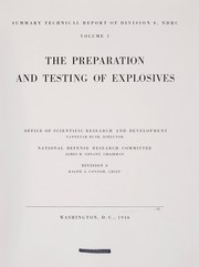 Cover of: The Preparation and testing of explosives