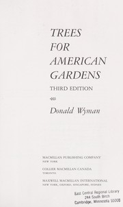 Cover of: Trees for American gardens