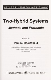 Cover of: Two-hybrid systems : methods and protocols |