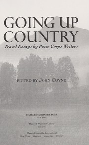 Cover of: Going up country | edited by John Coyne.