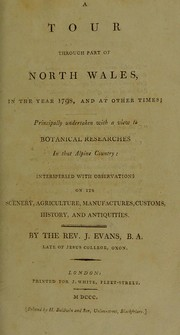 Cover of: A tour through part of North Wales in the year 1798
