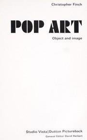 Cover of: Pop art: object and image.