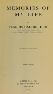 Cover of: Memories of my life | Sir Francis Galton