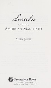 Cover of: The American manifesto | Allen Jayne