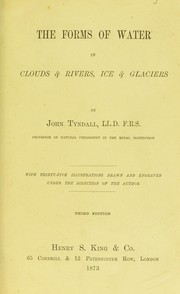 Cover of: The forms of water in clouds & rivers, ice & glaciers