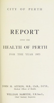 Cover of: [Report 1953] | Perth (Scotland). City Council