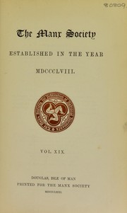 Cover of: Records of the Tynwald & Saint John