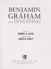 Cover of: Benjamin Graham on investing