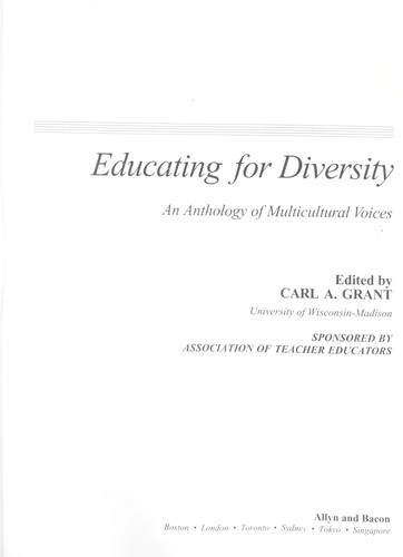 Educating for diversity : an anthology of multicultural voices by
