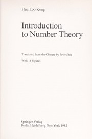 Cover of: Introduction to number theory | Hua, Luogeng