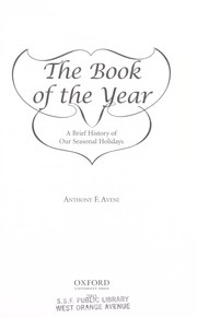 Cover of: The book of the year | Anthony F. Aveni