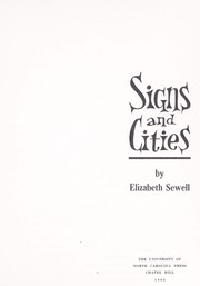 Cover of: Signs and cities. | Elizabeth Sewell