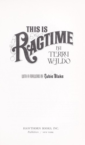 This is ragtime