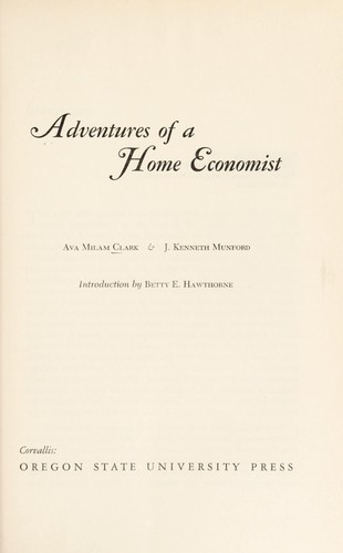 Adventures of a home economist (1969 edition) | Open Library