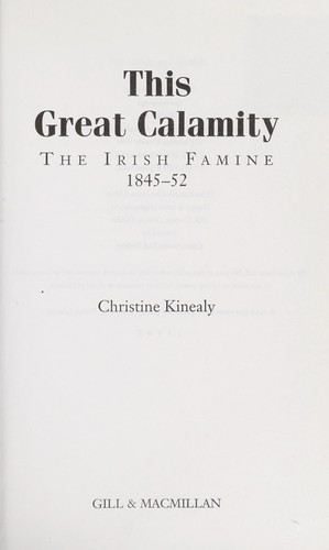 This great calamity by Christine Kinealy