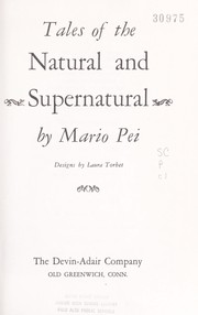 Cover of: Tales of the natural and supernatural