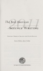 Cover of: The Best American Science Writing 2011