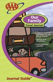 Cover of: Our Family Travel Journal (Travel Journal Guides) | American Automobile Association.