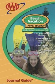 Cover of: Beach Vacation Travel Journal (Travel Journal Guides)