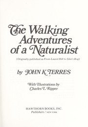 Cover of: The walking adventures of a naturalist