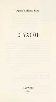 Cover of: O yacoi