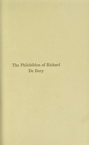 Cover of: The Philobiblon of Richard de Bury