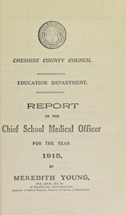 Cover of: [Report 1915]