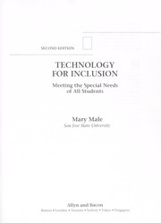 Cover of: Technology for inclusion | Mary Male
