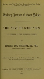 Cover of: The next to godliness
