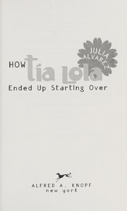 Cover of: How Tía Lola ended up starting over