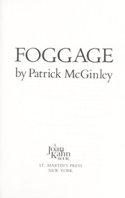 Cover of: Foggage | Patrick McGinley